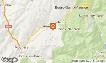 Map Les Arcs Vacation rental 100022