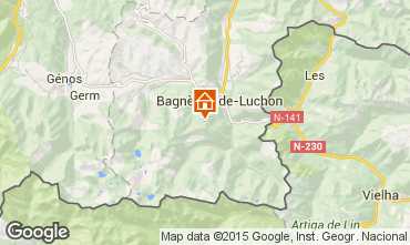 Map Luchon Superbagneres Apartment 4236
