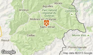 Map Molines Saint-Véran Chalet 1575