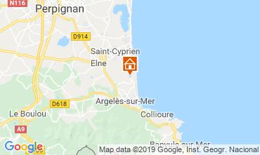 Map Argeles sur Mer Mobile home 118201