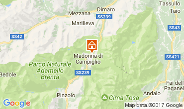 Map Madonna di Campiglio Apartment 28711