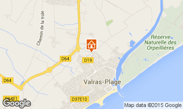 Map Valras-Plage Mobile home 81101
