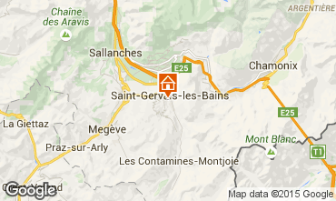 Map Saint Gervais Mont-Blanc Apartment 15389