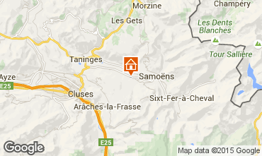 Map Morillon Grand Massif Chalet 66506