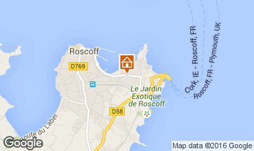 Map Roscoff One-room apartment 103192