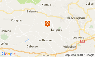 Map Lorgues Villa 110209