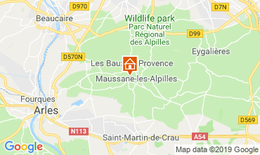 Map Maussane les Alpilles Vacation rental 118350