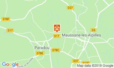 Map Maussane les Alpilles Vacation rental 118350