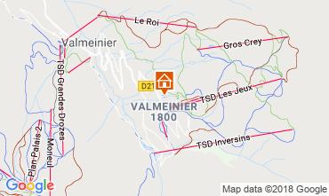 Map Valmeinier Apartment 117420
