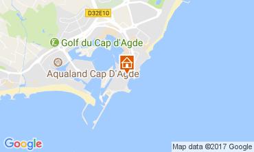 Map Cap d'Agde Apartment 110685