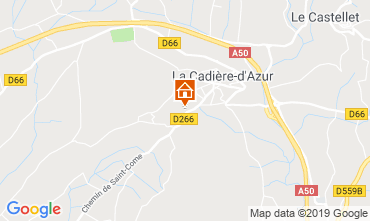 Map La Cadière d'Azur Villa 96924