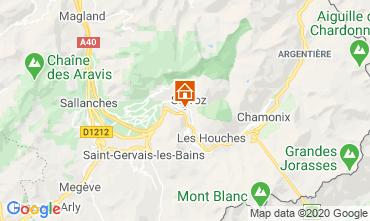 Map Chamonix Mont-Blanc One-room apartment 90652
