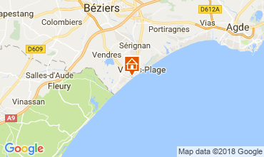 Map Valras-Plage One-room apartment 113797
