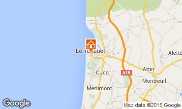 Map Le Touquet Apartment 92348