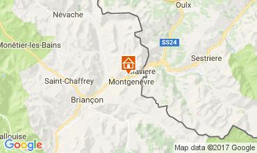 Map Montgenevre Apartment 108313