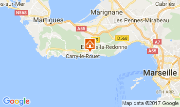 Map Carry le Rouet Villa 112762