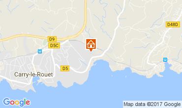 Map Carry le Rouet Villa 112762