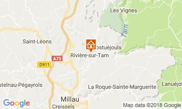Map Millau One-room apartment 74153