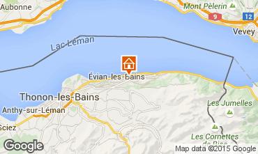 Map Evian les Bains Vacation rental 14092