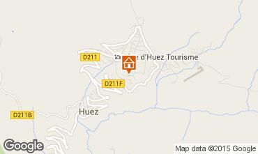 Map Alpe d'Huez One-room apartment 67