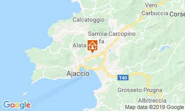 Map Ajaccio Apartment 108065