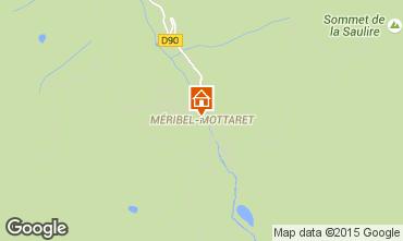 Map Méribel Apartment 90951