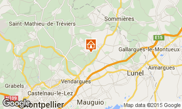 Map Montpellier Villa 80910