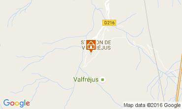 Map Valfréjus One-room apartment 107072