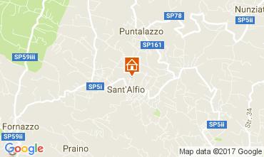 Map Sant'Alfio Apartment 111507