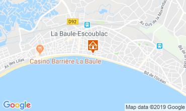 Map La Baule One-room apartment 117768