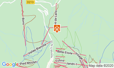 Map Les 2 Alpes Chalet 33878