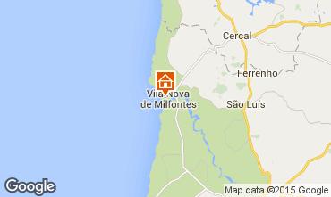 Map Vila nova de Milfontes Apartment 45283
