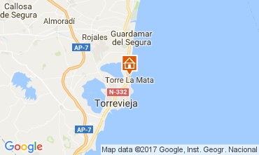 Map Torrevieja Apartment 109947