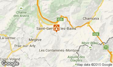 Map Saint-Gervais-les-Bains Apartment 2577