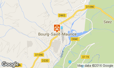 Map Bourg saint Maurice Apartment 98749
