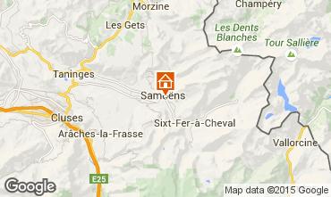Map Samoëns Chalet 80254