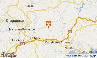 Map Roquebrune sur Argens Villa 76912