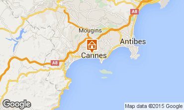 Map Cannes One-room apartment 57974