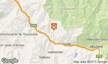 Map Saint Jean de Maurienne Vacation rental 68664