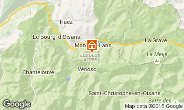 Map Les 2 Alpes One-room apartment 100739