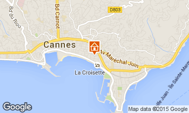 Map Cannes One-room apartment 100520