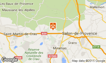 Map Salon de Provence Vacation rental 77630