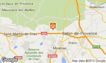 Map Salon de Provence Vacation rental 77630