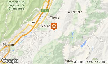 Map Les Sept Laux Apartment 96933