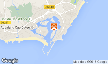 Map Cap d'Agde One-room apartment 103243