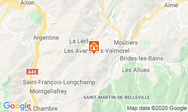 Map Valmorel Apartment 49915
