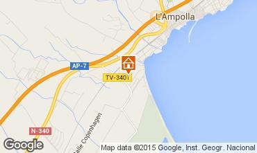 Map L'ampolla Villa 101811