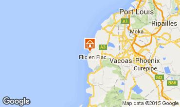 Map Flic-en-Flac One-room apartment 18058