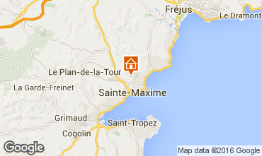 Map Sainte Maxime Villa 103264