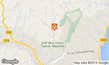 Map Sainte Maxime Villa 103264